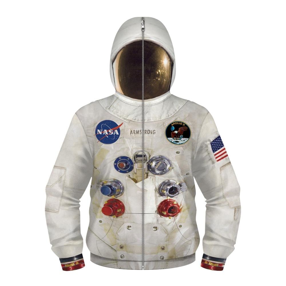 DIY New 3D Armstrong Space Suite Hoodie Sweatshirt Kids Hoodies Casual Sweatshirt Cute Coseplay Astronaut Spacesuit Hoodies