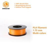 SIMAX3D 1.75mm PLA filament 10 Colors For 3D Printer Extruder Pen Plastic Accessories spools mpressora 3D filamento