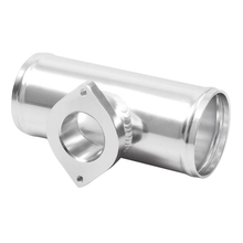 Автомобильный турбо выдувной клапан Rs S тип фланца алюминиевая переходная труба 2,5 ''серебро