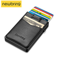 Porte-monnaie avec poche extérieure, nouveau, Mini, blocage RFID, Pop-up automatique, organisateur, sac à main