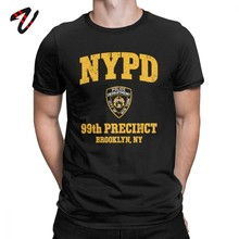 Brooklyn Neun Neun T-shirt TV Fans Männer T Shirt 99th Precinct Brooklyn NY 99 Baumwolle T Shirt Vater Tag Geschenk t-Shirts Sommer Tops(China)