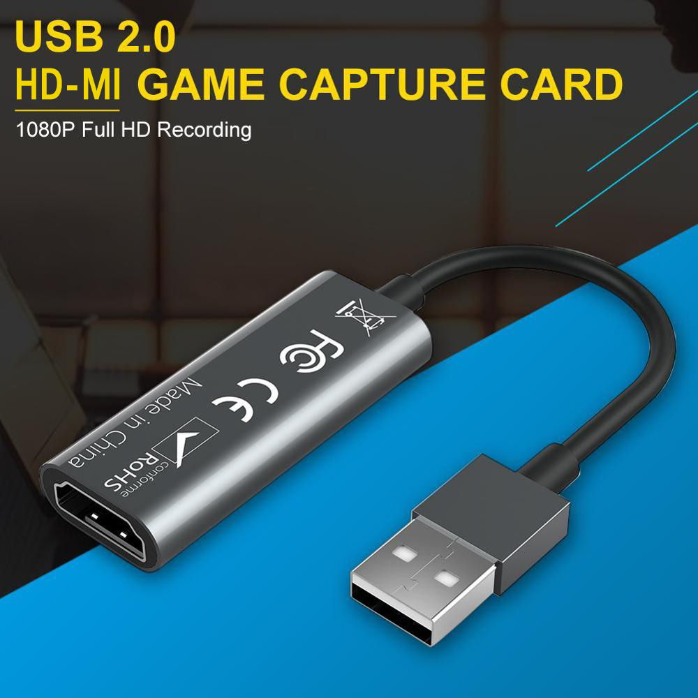 2 Type HD-MI Video Capture Card USB 2.0 HD-MI Record Box for PS4 Game DVD HD Camcorder Nintendo Switch Live Streaming