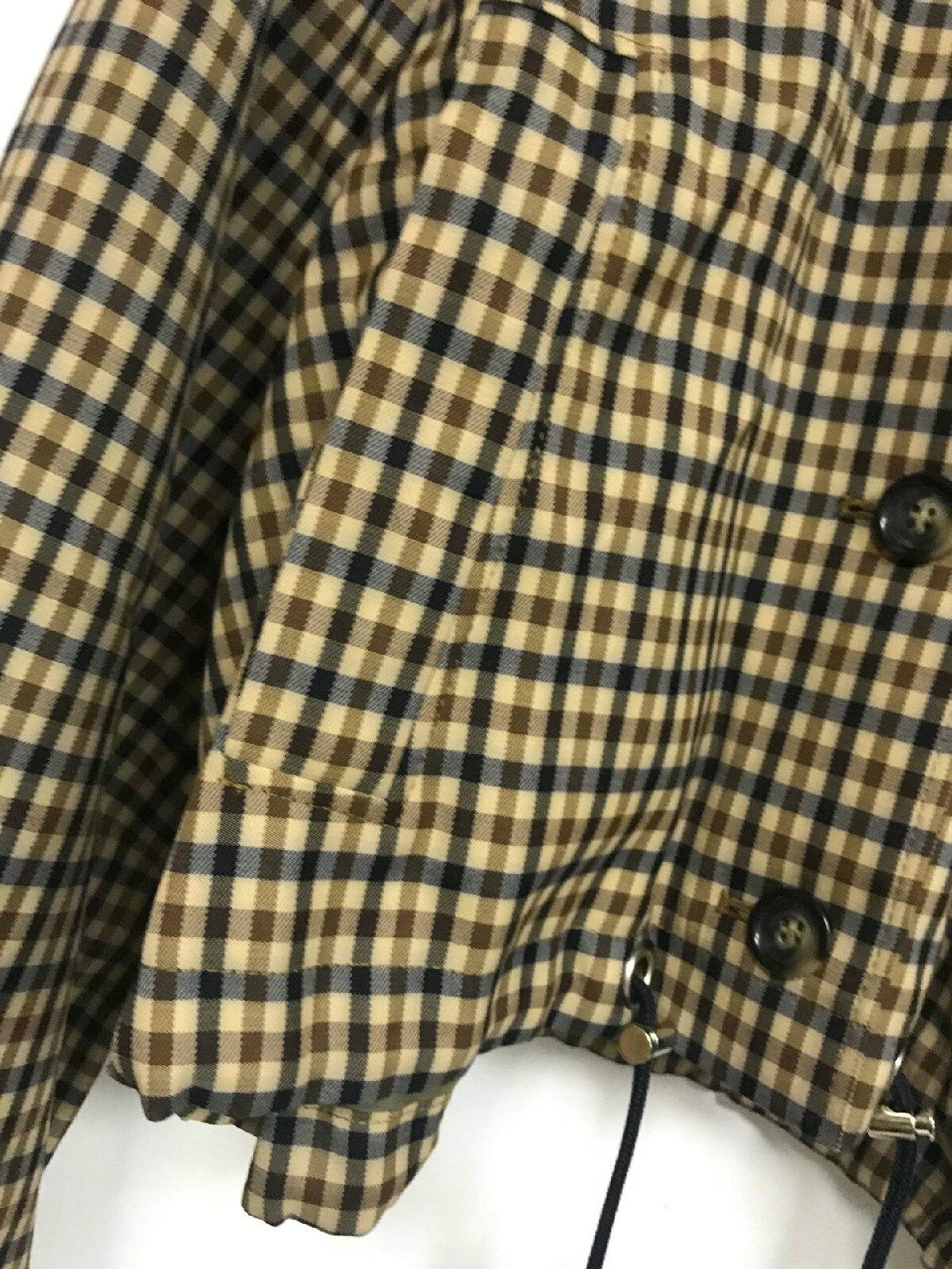 북유럽 틈새 2019 가을, 겨울 코트와 재킷 여성 새로운 복고풍 drawstring 격자 무늬 여성 자켓-에서베이식 쟈켓부터 여성 의류 의  그룹 3