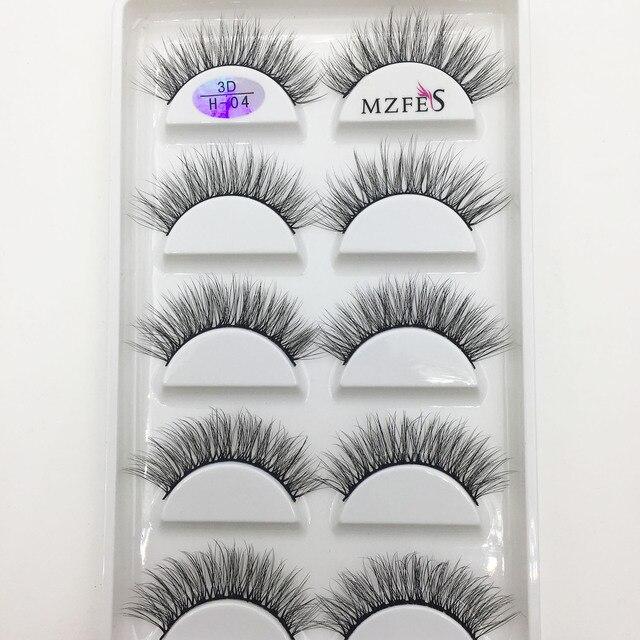 Wholesale 10/50 Boxes 3D Mink Eyelashes Natural Thick False Eye Lashes Mink Lashes Soft Fake Eyelash Wispy Makeup Cilios H13 3