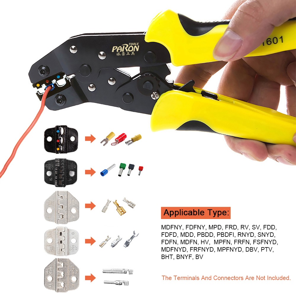 PARON Crimper Bootlace Terminal Engineering Multi Ferrule Crimping Ratcheting Tool Crimpers Tool Wire Pliers Professional
