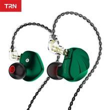 TRN VX 6BA + 1DD Hybrid 7 Fahrer Einheit In Ohr Kopfhörer Metall IEM HIFI Ohrhörer Monitor Laufen Sport Headset v90 BA5 C16 CA16 NX7 PRO