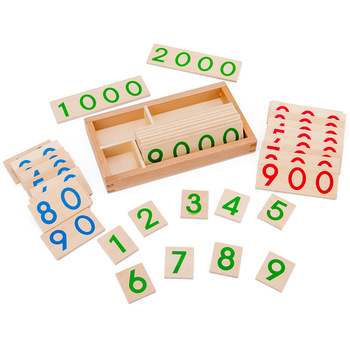 Children's wooden Montessori numbers 1-9000 learning card math teaching aids preschool children early education educational toys