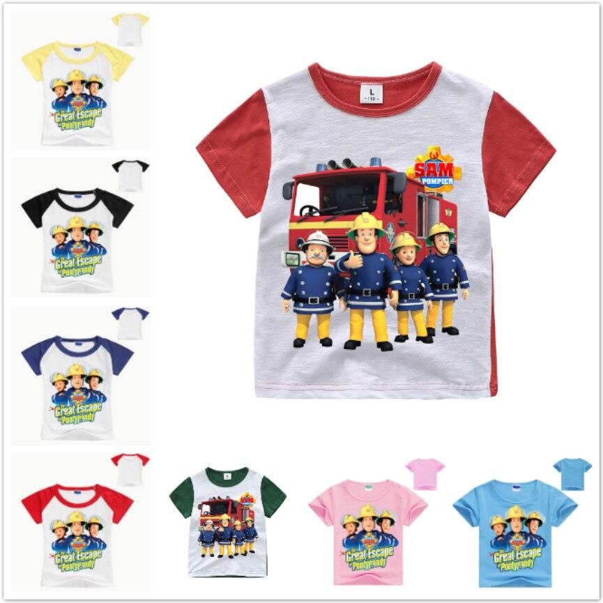 Children Kids Baby Boys Clothes Short Sleeve Cartoon Tops T-Shirt Casual Blouses