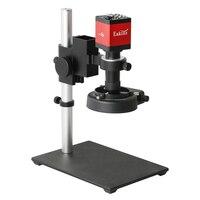 Juego de microscopio Digital, herramientas de soldadura de teléfono, 14MP, 1080P, 60F/S, HDMI, cámara de vídeo VGA, 100X, 130X, C, lente de montaje, 56 lámpara de luz LED