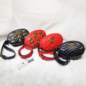 Image 5 - Alta qualidade das mulheres fanny pacote de couro do plutônio saco da cintura feminina banana cinto bolsa ombro crossbody sacos peito designer luxo bolsa