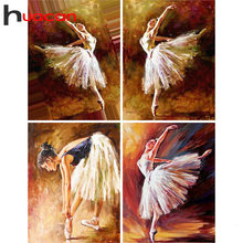 Huacan Diamante Ballerina Pittura di Diamante Del Ricamo Balletto Immagine Di Strass Complementi Arredo Casa Pittura Diamante Piazza Piena(China)