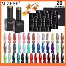 MIZHSE 20 Pcs/Set Gel Polish set Winer Coffee Vernis Semi Permanent Hybrid Varnish UV Gel Paint Nails All For Manicure Nail Art