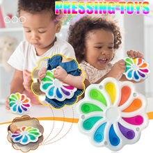 Nova fidget simples dimple brinquedo gordura cérebro brinquedos alívio do estresse mão brinquedos para crianças silicone macio cedo autismo educacional precisa