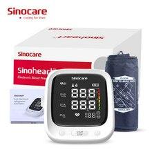 Kol otomatik tansiyon, kalp hızı darbe BP sfigmomanometre makinesi ses fonksiyonu ve büyük LCD ekran
