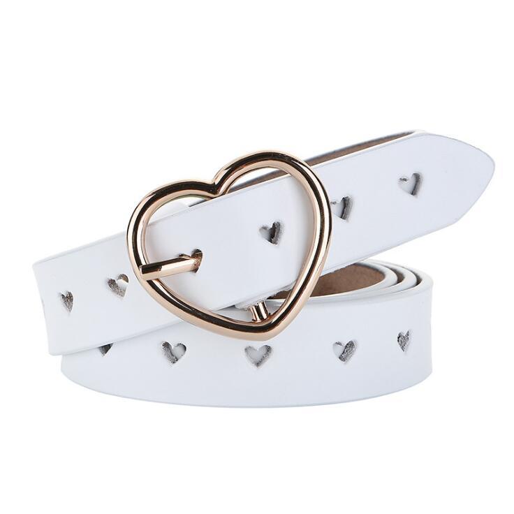 Image 2 - JXQBSYDK Luxury Belts for Women Fashion Personalized Heart Buckle High Quality Genuine Leather Waist Belts 2019Womens Belts   -
