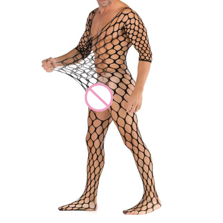 Summer Man Pajamas Stocking Sexy Costumes Sexy Lingerie Erotic Bodystocking Catsuit Plus Size Body Suit Male Soft Sleepwear