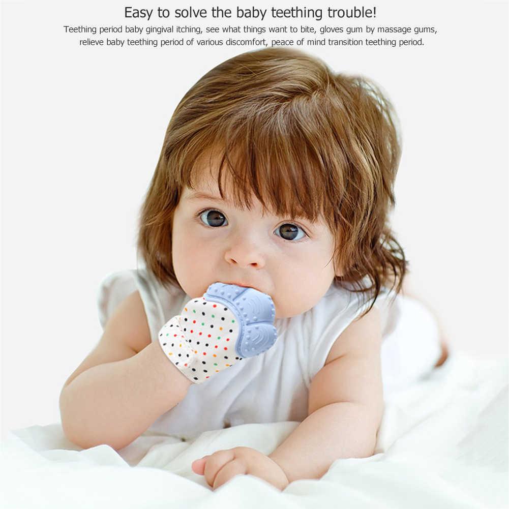 Baby TeetherถุงมือSqueakyบดฟันOral Careยาสีฟันสูตรเกลือผสมฟลูออไรด์ผสานพลังสมุนไพรฟันขาวสะอาดลดกลิ่นปากTeethingบรรเทาอาการปวดแรกเกิดกัดChewเสียงของเล่นซิลิโคนBPAฟรี