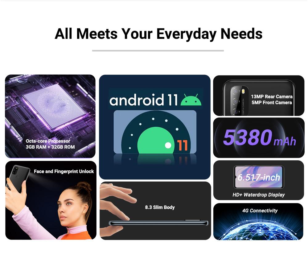 Blackview A70 3GB+32GB 5380mAh