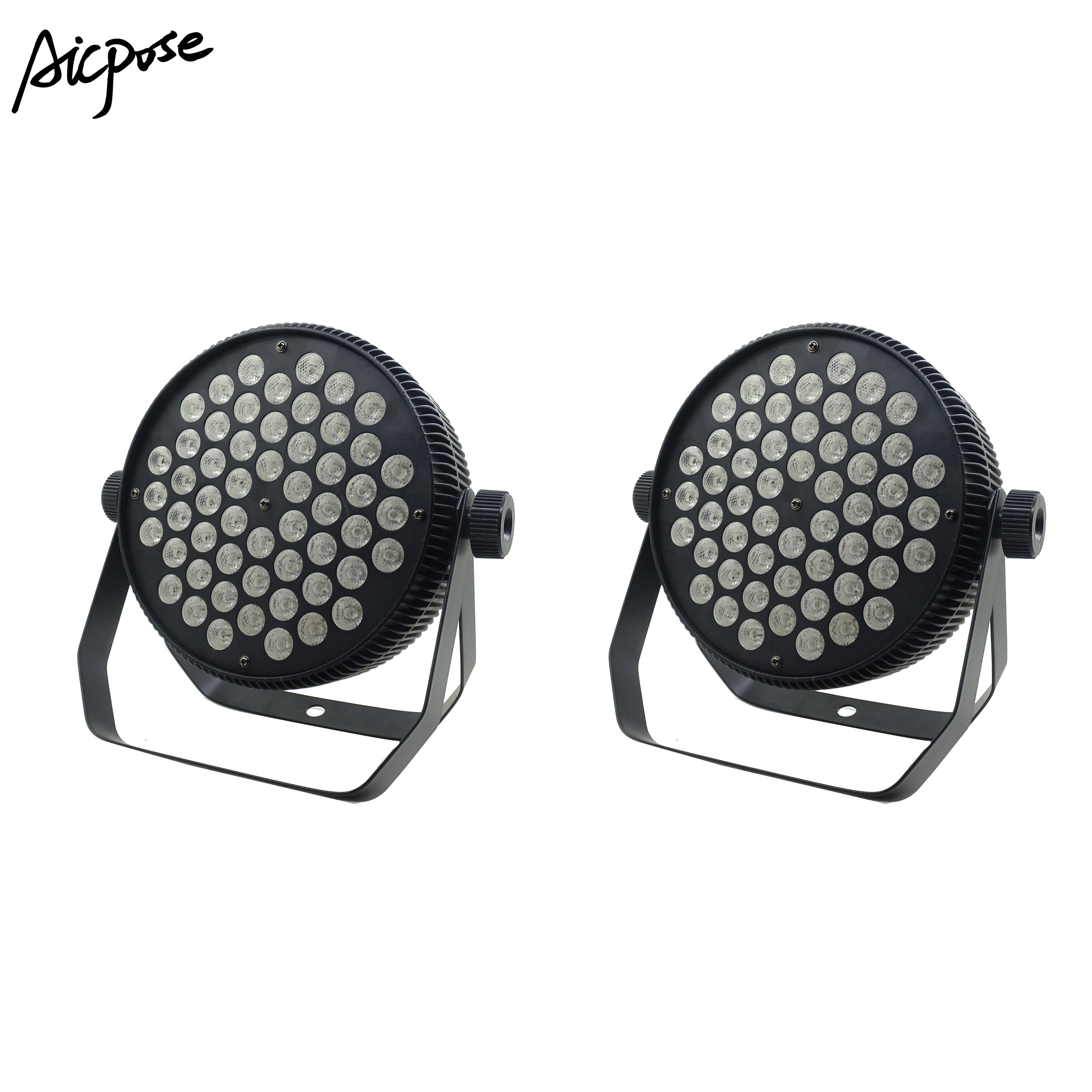 2pcs/lots Aluminum Flat LED Par 54x3W RGB 3 in 1 LED Par Can Light spotlight DJ Disco Projector Wall washer stage lighting title=