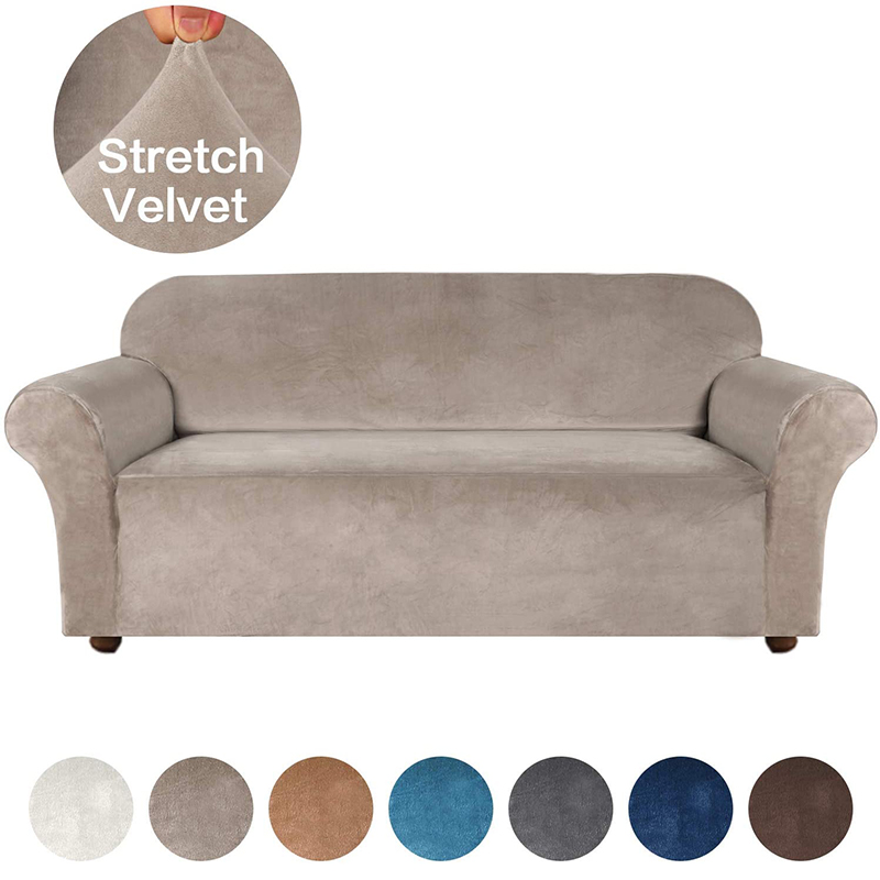 High Grade Velvet Stretch Sofa Cover for Living Room Couch Slipcover Furniture Protector Case Sofa Cover Elastic 1/2/3/4 Seater 1