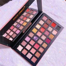 Changeable Pink Violet Nude Eye Shadow Palette Makeup 32 Colors Matte Shimmer Glitter Eyeshadow Powder Waterproof TSLM1