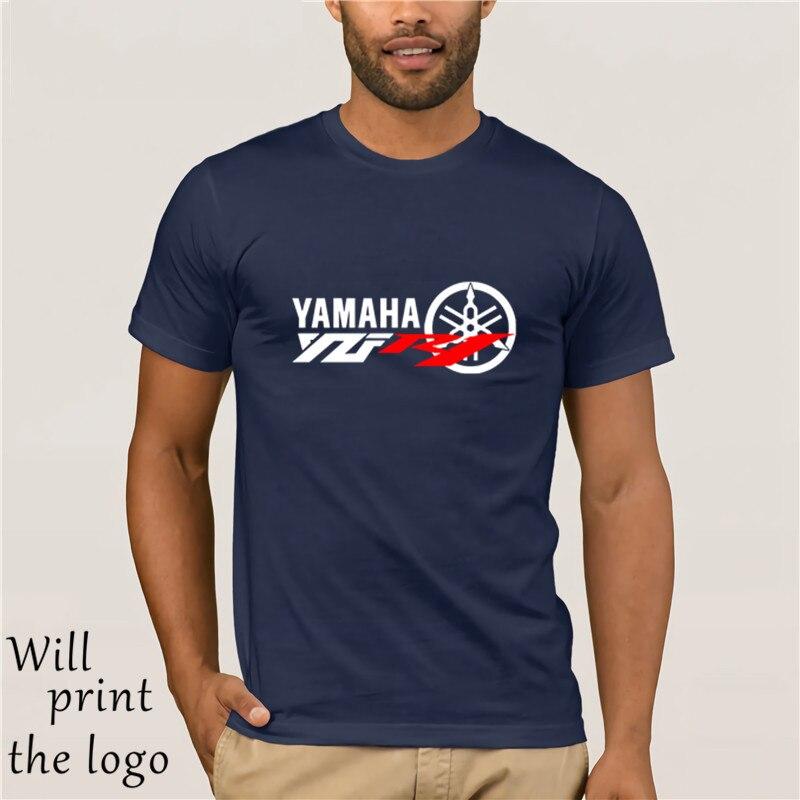 Print T-Shirt Mens Short Classic Japanese Motorcycle Fans SUPER SPORTER YZF R1 T-SHIRT O-Neck Hipster T-shirts