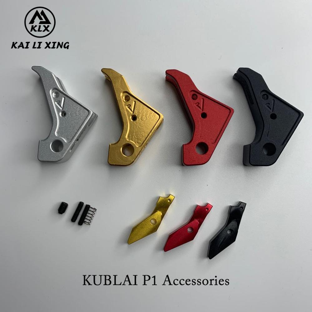 Toy P1 Metal Outer Trigger Tactical Air Gun Fit TM Systerm Kublai Unicorn Industries Special Appearance Modification CNC Cu