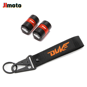 Image 3 - For KTM Duke 125 200 250 390 690 Motorcycle CNC Accessories Wheel Tire Valve Caps Cover Embroidery Key Chain Keychain