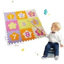 9 шт. ребенок Раннее Образование мозаика лабиринт напольный коврик пазл Защита окружающей среды цвет ребенок анти-осень коврик Ползания