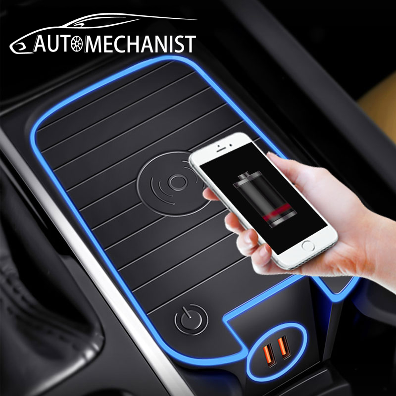 Car Wireless Charger For Volvo XC90 S90 V90 XC60 V60 S60 Special Mobile Phone Charging Plate Interior Styling Car Accessories