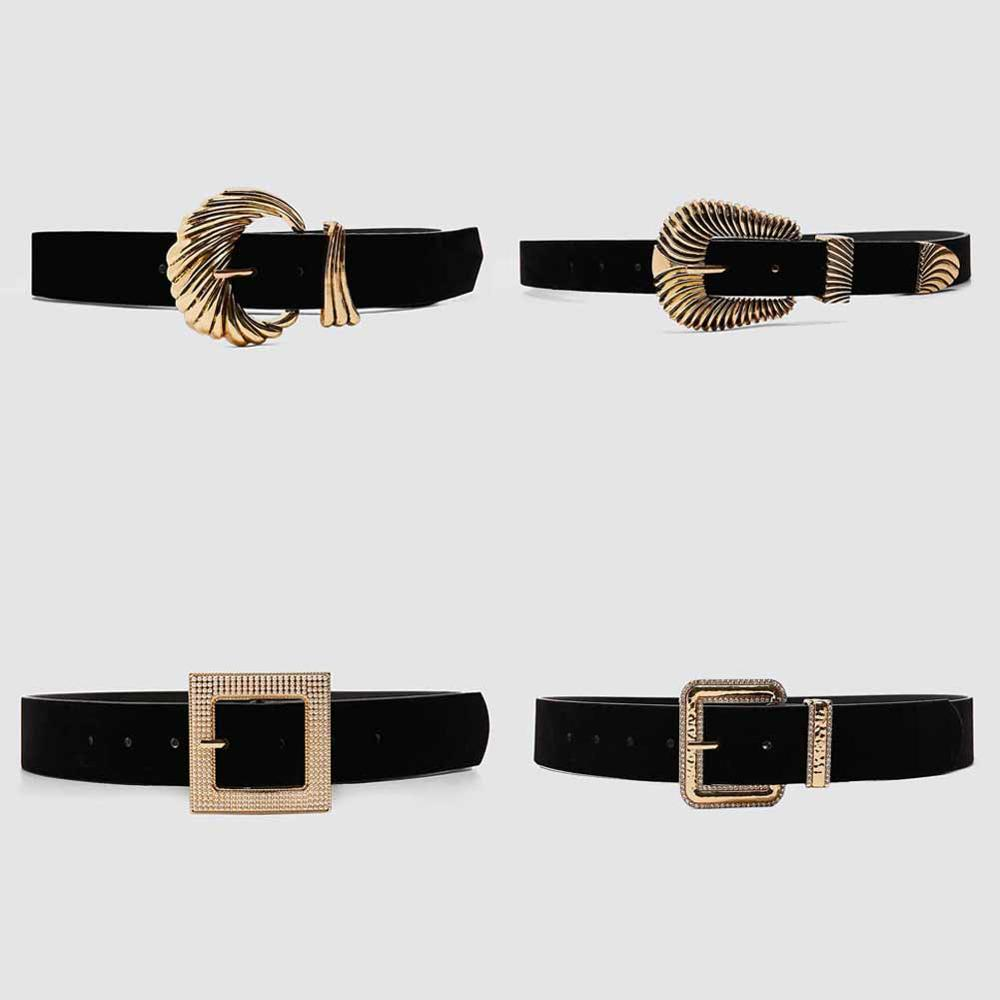 Girlgo Vintage Metal Gold Color Buckle Belt For Women Punk Fashion Geometric Belly Chain Dress Accessories Jewelry Gifts Hot