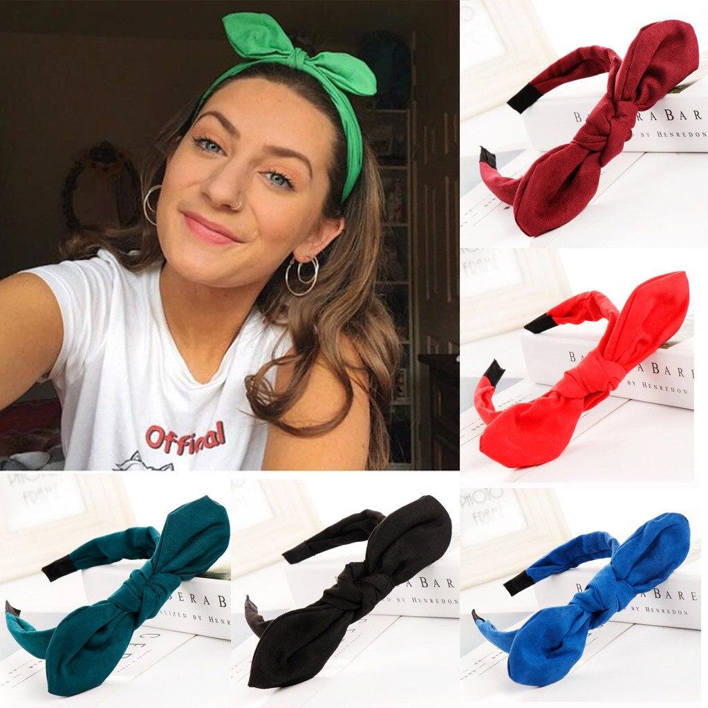 Woman Elegant Bow Knot Hairband Hoop Simple Sweet Girl Headband Hair Accessories
