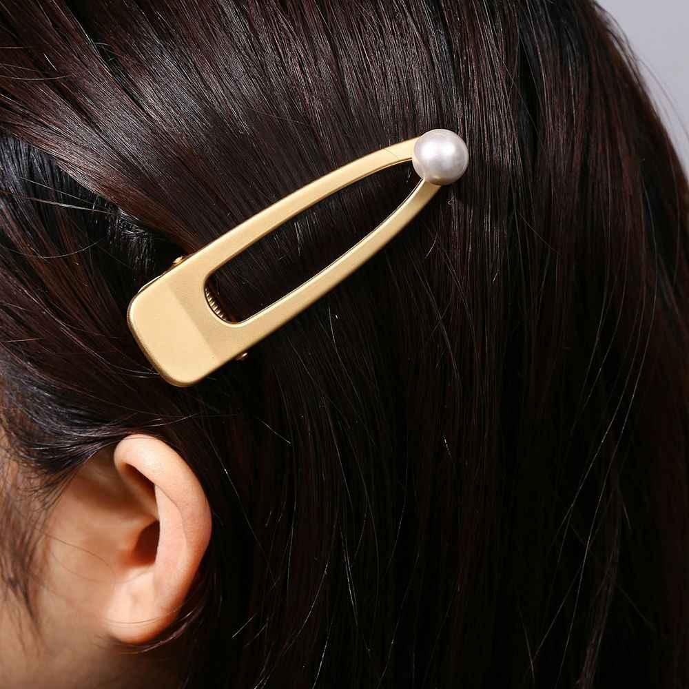 อุปกรณ์เสริมผมโลหะ Snap คลิปผม Snap Hairpins Hairclips Hair Smiley Face Snap คลิป Hairgrips Barrettes Hairdressing เครื่องมือ