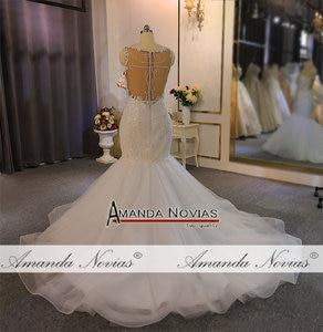 Image 4 - Straps lace mermaid wedding dress with beading custom order for black girl