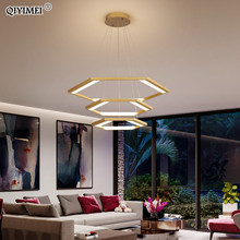 Postmodern LED Chandelier Lighting Luxury Living Room Restaurant Bar Hanging Lamp Minimalist Acrylic Iron Nordic Light Luminaria(China)