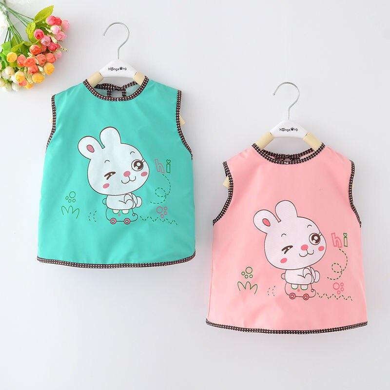 Baby Waterproof Dress Children Eating Overclothes Anti-Bib Sleeveless Apron Thin Infants Bib Pinny Protective Clothing