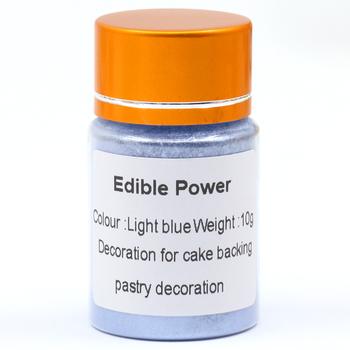 10 gramów jasnoniebieski jadalne ciasto żywność w proszku kolorowanie do dekoracji Fondant czekoladowy dekoracji sztuki spożywczej pigmentu Fondant tanie i dobre opinie Pearl