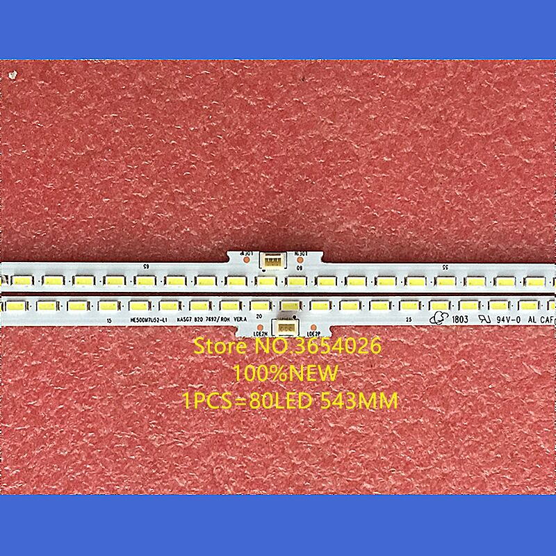 Free Shipping 2PCS LED Backlight Strip Led Kit For Hisense TV LED50EC720US SSY-1155570-A RSAG7.820.7692 HE500M7U 80leds 543mm