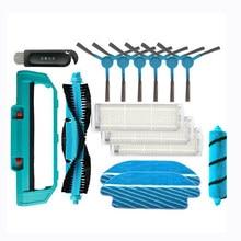 Escova de rolo para conga 3490 3290 escovas laterais aspirador filtro para xiaomi mijia styj02ym substituição mop pano kit