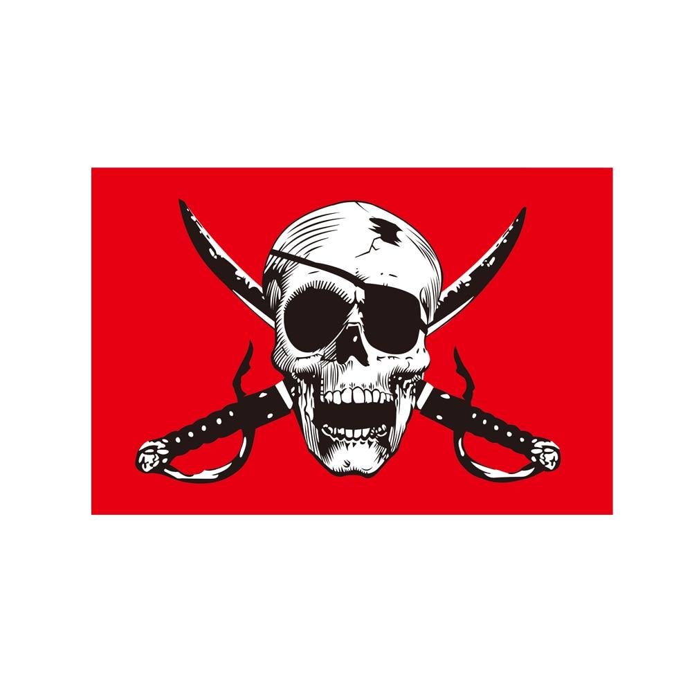 Cross Crossbones Jolly Roger Pirate Flag 150* 90cm 3ft x 5ft Custom Banner Metal Holes Grommets