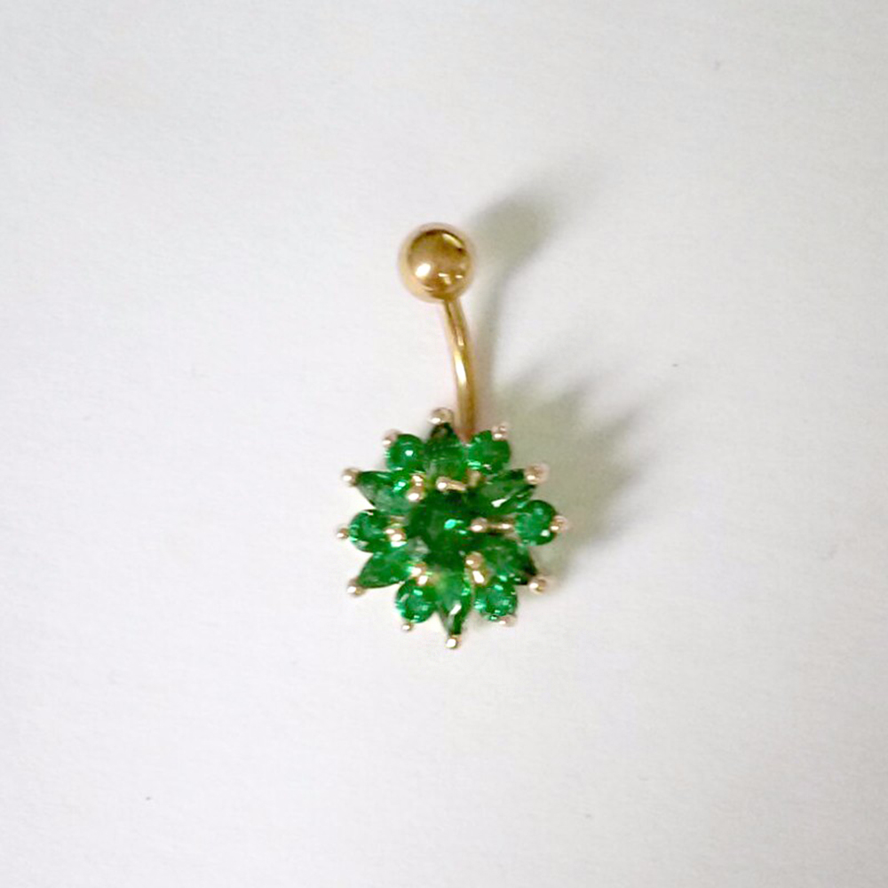 Hc692cba9d50a448d9d709b6e2ecc148f1 Navel Piercing Body Jewelry Crystal Flower Belly Button Ring