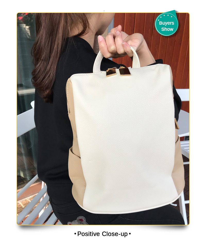 Hc692df41a1ae4d679471630af12ec26fG Women Backpack for School Style Leather Bag For College Simple Design Women Casual Daypacks mochila Female Famous Brands168-325