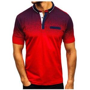 Image 2 - 브랜드 뉴 남성 폴로 셔츠 고품질 남성 코 튼 반소매 셔츠 브랜드 유니폼 여름 남성 폴로 셔츠 camisa 폴로 S 3XL