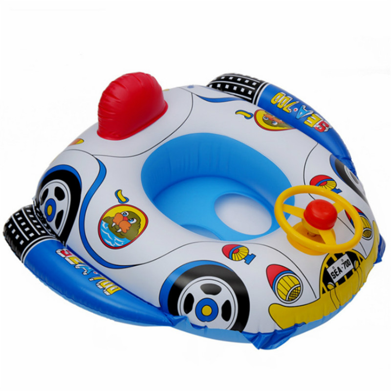 Environment Friendly PVC Children's Swimming Circle Seat Ring Swimming Science Swimming Steering Wheel Seat Ring Inflatable