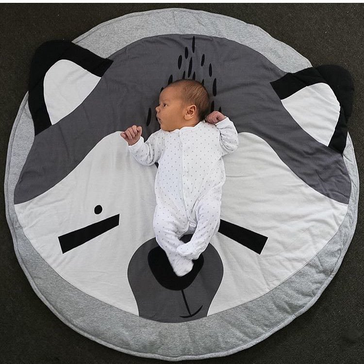 Baby Play Mats Crawling Carpet Blanket Cotton Pad Mat Round Floor Rug Kids Playmat Activity Gym Gifts For Newborn Toddler Infant