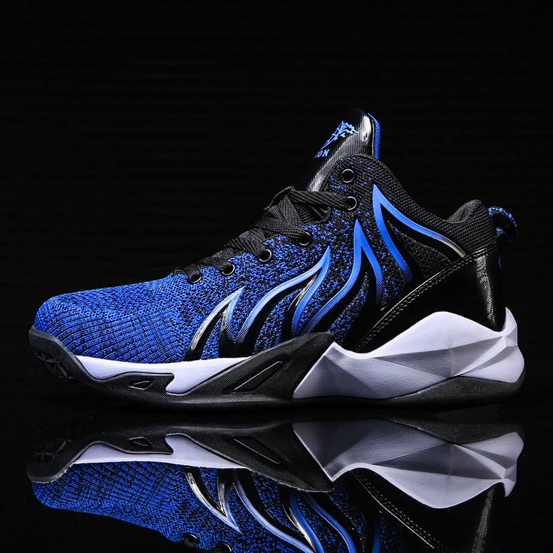 Men Sports Basketball Shoes Women Retro Sneakers Breathable High-top Shoes Outdoor Basketball Boots Kids Trainers Athletic Shoes