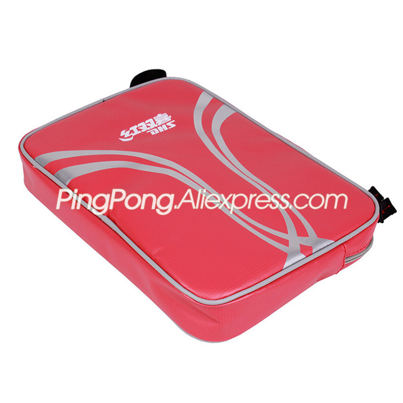 DHS Table Tennis Bag Square Waterproof Top Quality Original DHS Ping Pong Bat Case / Bag