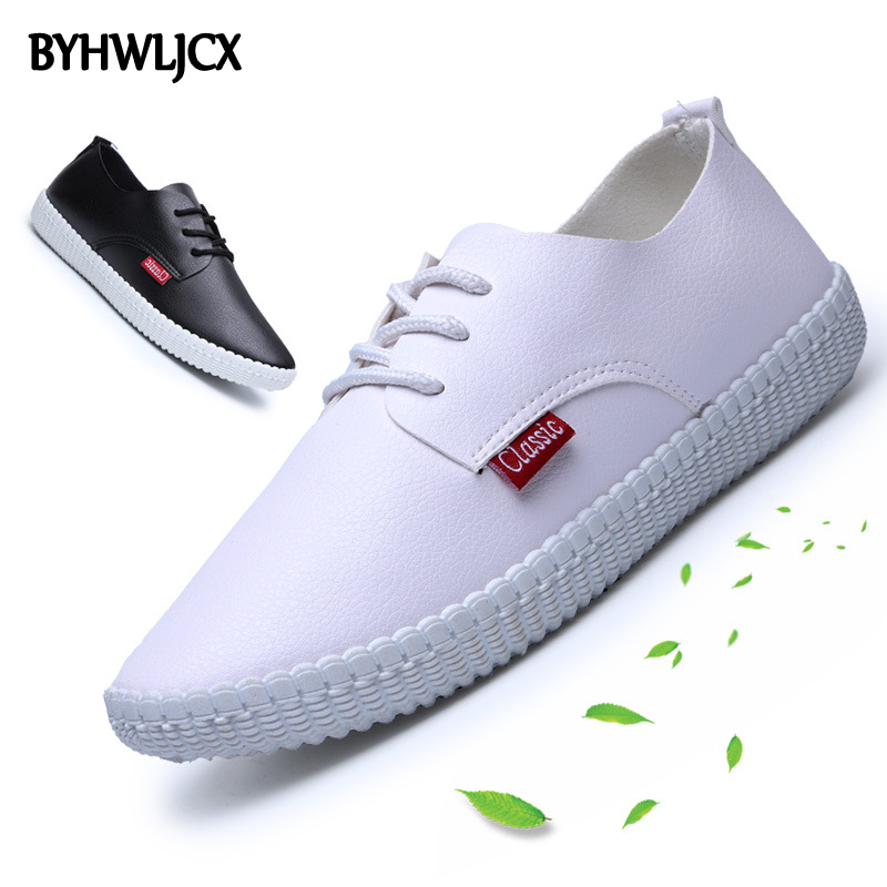 Summer leather woman shoes casual white tie rubber soft bottom sneakers quality PU breathable sandals