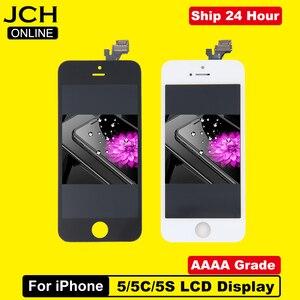 Image 1 - En ucuz fiyat LCD ekran için Pantalla iPhone 5 S 5C 5 SE LCD dokunmatik ekran Digitizer meclisi + araçları + TPU + cam