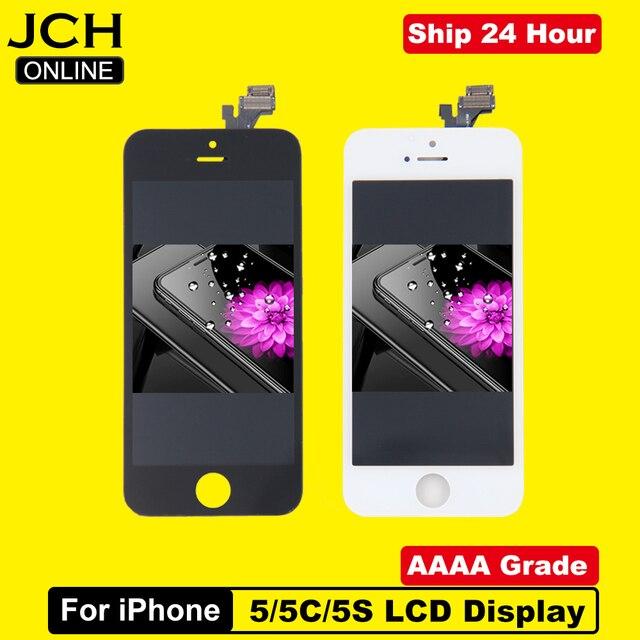 En ucuz fiyat LCD ekran için Pantalla iPhone 5 S 5C 5 SE LCD dokunmatik ekran Digitizer meclisi + araçları + TPU + cam